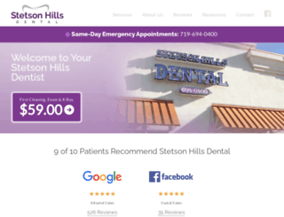 stetsonhillsdental.com screenshot