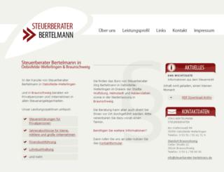 steuerberater-bertelmann.de screenshot