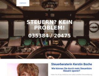 steuerbuero-boche.de screenshot