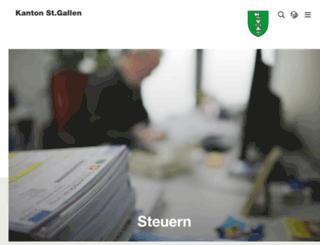 steuern.sg.ch screenshot