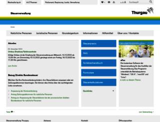 steuerverwaltung.tg.ch screenshot