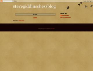 stevegiddinschessblog.blogspot.co.uk screenshot