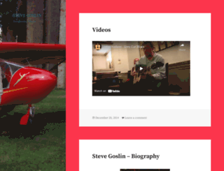 stevejgoslin.wordpress.com screenshot