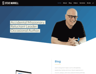 stevemurrell.com screenshot
