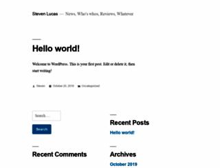 steven-lucas.com screenshot