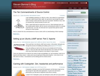 stevenbenner.com screenshot