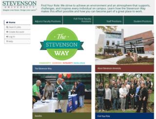 stevenson.peopleadmin.com screenshot