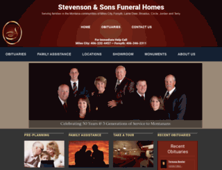 stevensonandsons.com screenshot