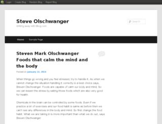 steveolschwangers.blog.com screenshot
