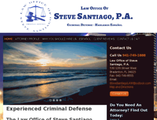 stevesantiago.avvosites.com screenshot