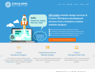 stevesims.com screenshot