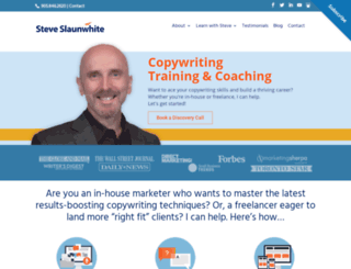 steveslaunwhite.com screenshot