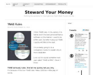 stewardyourmoney.com screenshot