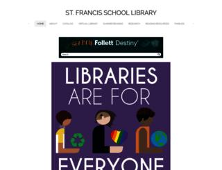 stfrancis-library.org screenshot