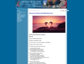 sthelenaumc.org screenshot