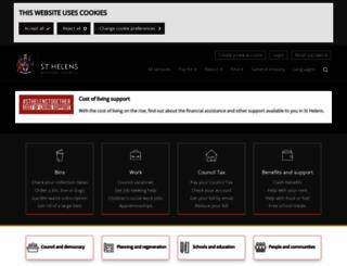 sthelens.gov.uk screenshot