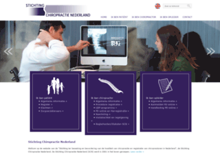 stichtingchiropractie.nl screenshot
