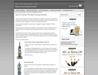 stick-vacuum.com screenshot