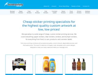 stickerprinting.com.au screenshot