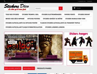 stickers-muraux-deco.fr screenshot