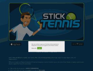 sticktennis.com screenshot