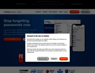 stickypassword.com screenshot