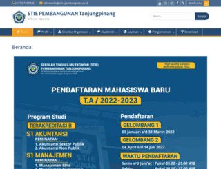 stie-pembangunan.ac.id screenshot