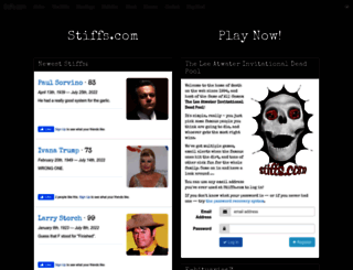 stiffs.com screenshot
