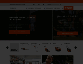 stihl.es screenshot