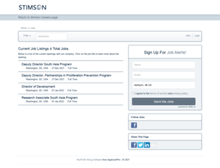 stimson.applicantpro.com screenshot