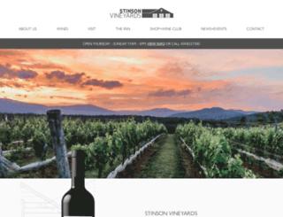 stinsonvineyards.com screenshot