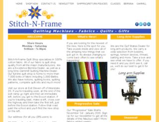 stitch-n-frame.net screenshot