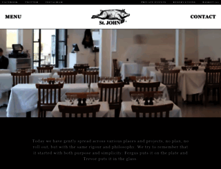 stjohnrestaurant.com screenshot
