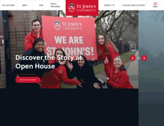 stjohns.edu screenshot