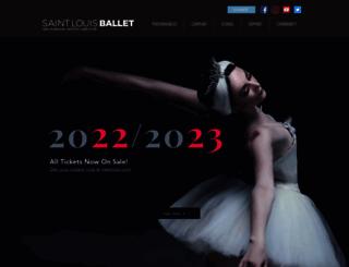 stlouisballet.org screenshot