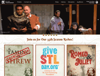 stlshakespeare.org screenshot