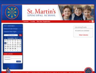 stmartinschool.schoolfusion.us screenshot