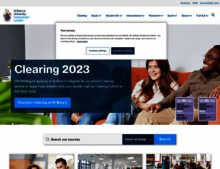 stmarys.ac.uk screenshot