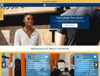 stmarytx.edu screenshot