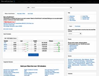 stockfetcher.com screenshot