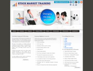stockmarkettraining.co.in screenshot