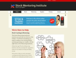 stockmentoringinstitute.com screenshot