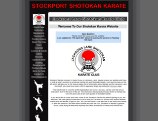 stockportkarate.co.uk screenshot
