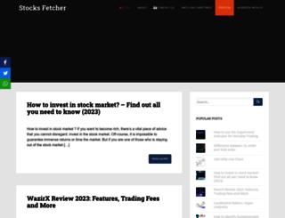 stocksfetcher.com screenshot
