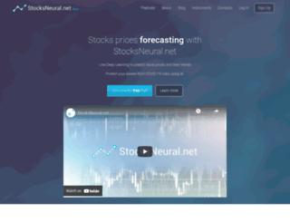 stocksneural.net screenshot