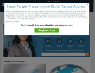 stocktargetprices.com screenshot
