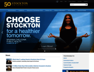 stockton.edu screenshot