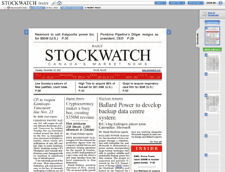 stockwatch.newspaperdirect.com screenshot