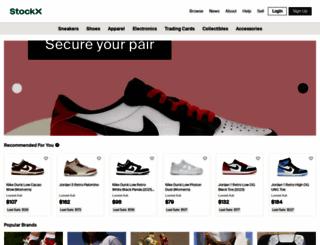 stockx.com screenshot