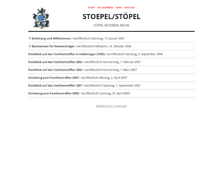 stoepel.net screenshot